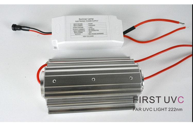 QuantaModule Open Source 20-Watt Far UV Excimer Module DC 24V Far-UVC Light Kit with 222nm Bandpass Flitter and Housing